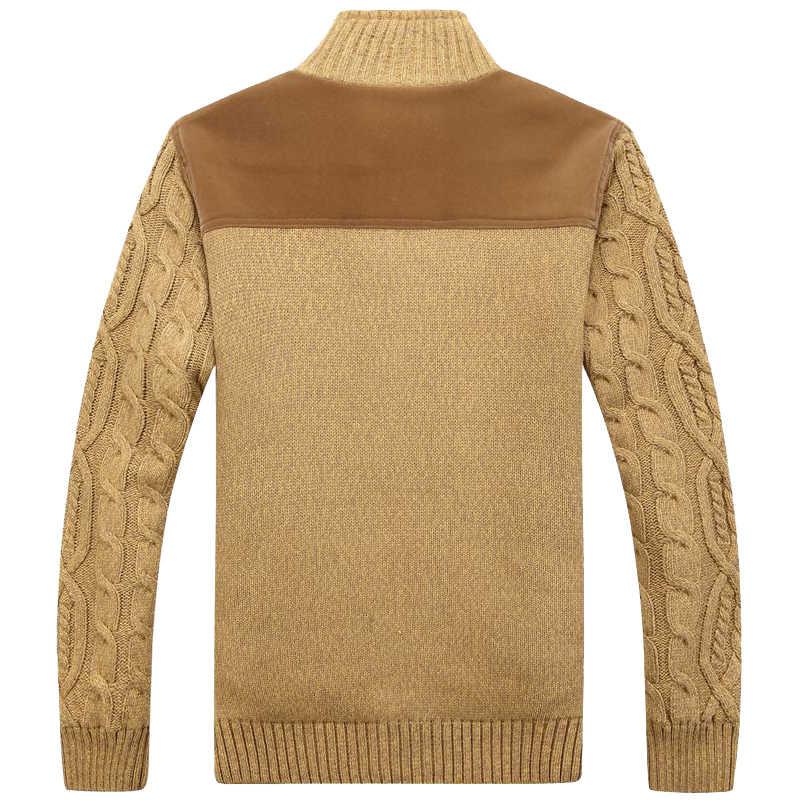 เสื้อกันหนาวฤดูหนาวผู้ชายที่อบอุ่นหนากำมะหยี่เสื้อกันหนาว Single-breasted Casual Men รูปแบบเสื้อกันหนาวเสื้อ Cardigan เสื้อแจ็คเก็ตชาย