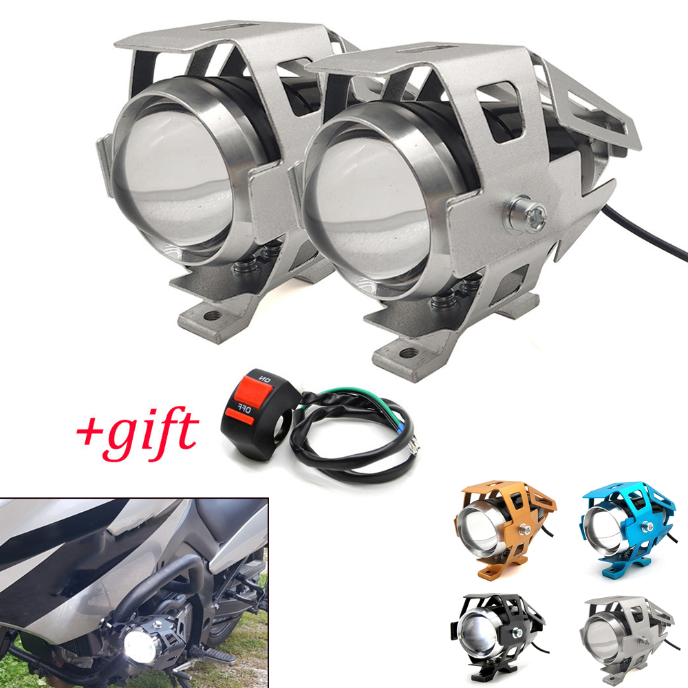Motorcycle <font><b>LED</b></font> <font><b>Headlights</b></font> U5 <font><b>Led</b></font> Spotlight moto light Fog Spotlights 12V For <font><b>Yamaha</b></font> TX125 Adventure YZF R120 <font><b>R1</b></font> R3 R25 R6 600R image