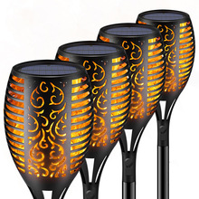 33LED Solar Flame Lamp Outdoor Torch Light Safety Waterproof Light Garden Flicker Lights for Garden Decoration Automatic On Dusk