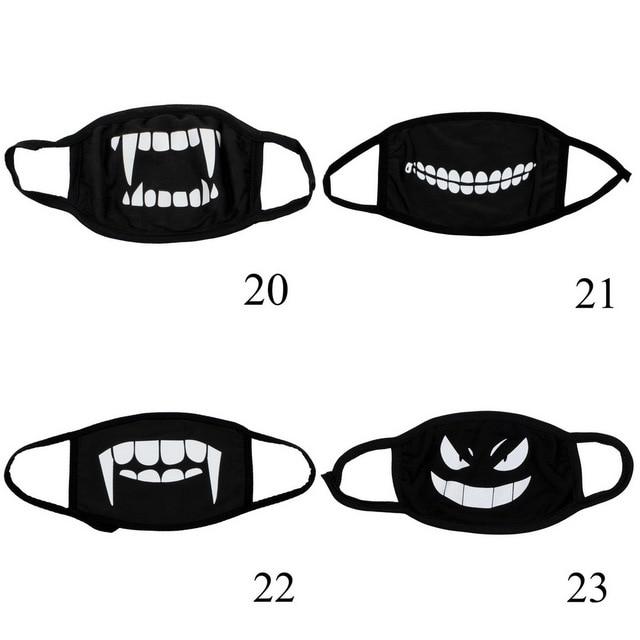 4 pcs Can Choose Colors Dust Mask Cotton Dustproof Anime Cartoon Kpop Mouth Mask for Women Men Black Filtration Muffle Face Mask 5