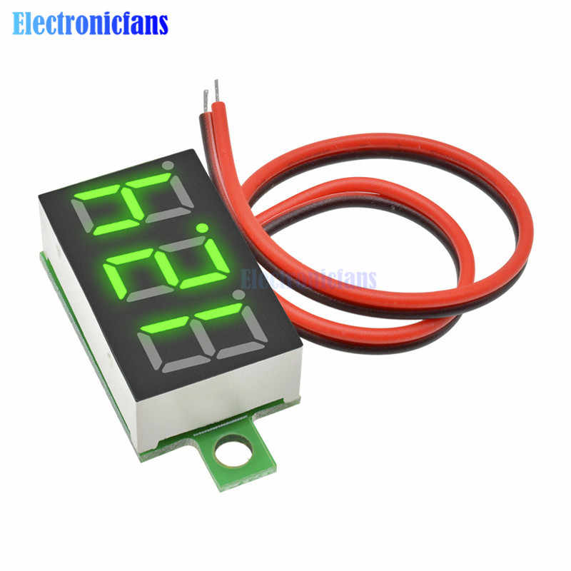 0,36 pulgadas DC 4,7-32 V volt/ímetro de pantalla de 3 d/ígitos Mini LED Panel digital volt/ímetro instrumento rojo//azul//verde verde