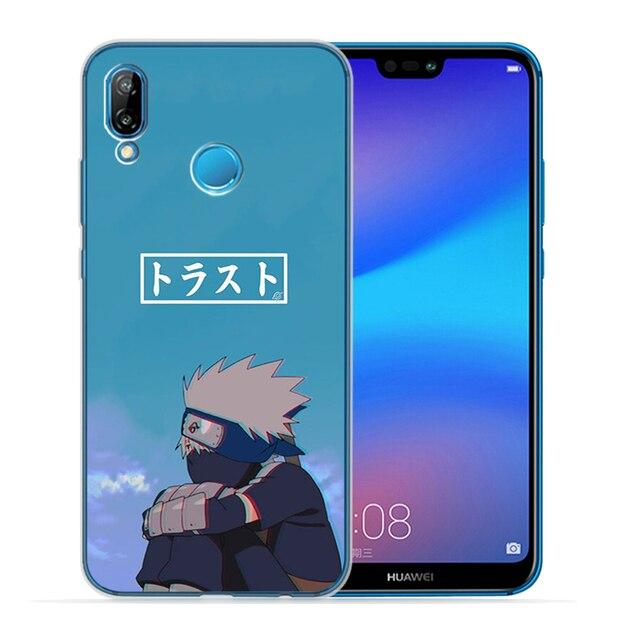 NARUTO TPU miękkiego silikonu etui na telefony dla Huawei P10 P20 P30 Lite Plus Pro P inteligentny Y5 Y6 Y7Prime Nova 3 3i