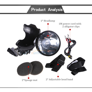 Image 2 - Superbright 12V reflektor 100W Xenon reflektor zewnętrzny DC Power szybki rozruch polowanie lampa wędkarska reflektor