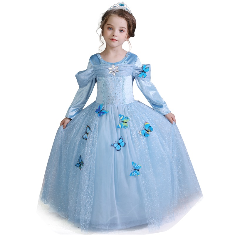 Girls Princess Dress Halloween Costume Birthday Party Clothing for Children Kids Vestidos Robe Fille Girls Fancy Dress 7