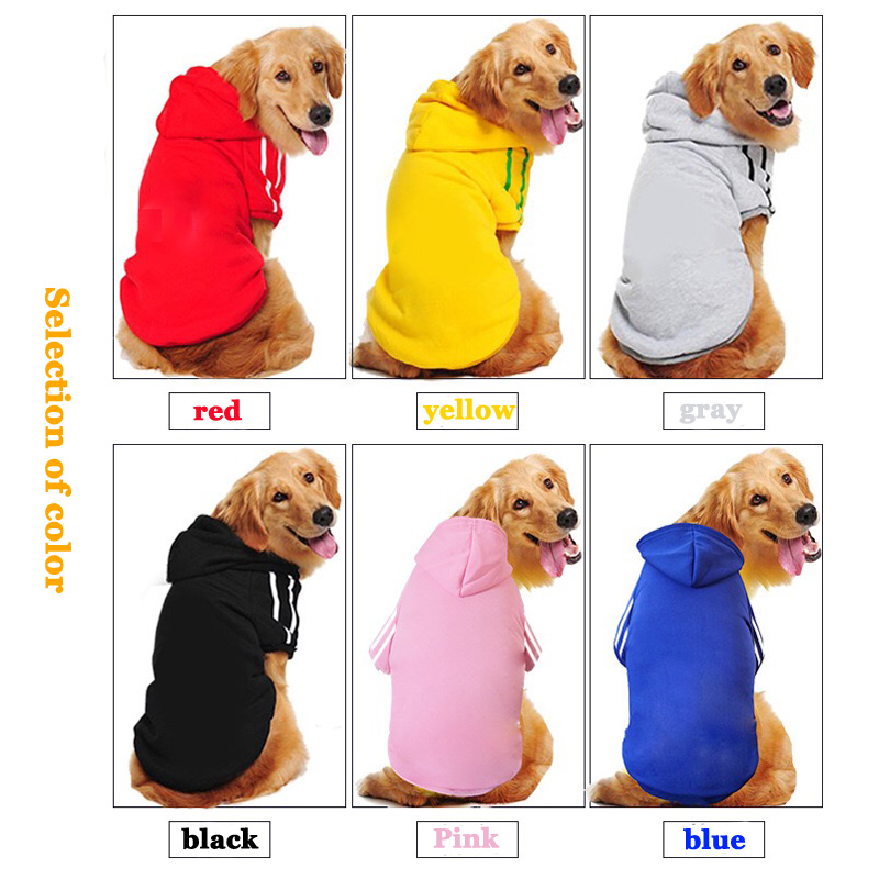 Security Dog Clothes Classic Pet Dog Hoodies Clothes For large dog Autumn Coat Jacket for Chihuahua Retriever Labrador Clothing image