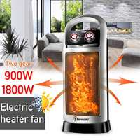 220V 1800W Portable Electric Heater Fan Heater Desktop Household Wall Handy Heating Stove Radiator Warmer Machine for Winter