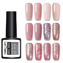 Lemooc 8 Ml Uv Gel Nagellak Rose Gold Glitter Pailletten Losweken Uv Gel Varnish Color Nail Gel Polish diy Nail Art Varnish(China)