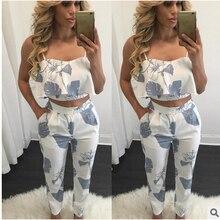 Fashion Women Ladies Stylish Floral Printing V Neck Sleeveless Summer Casual Strap Tube Top