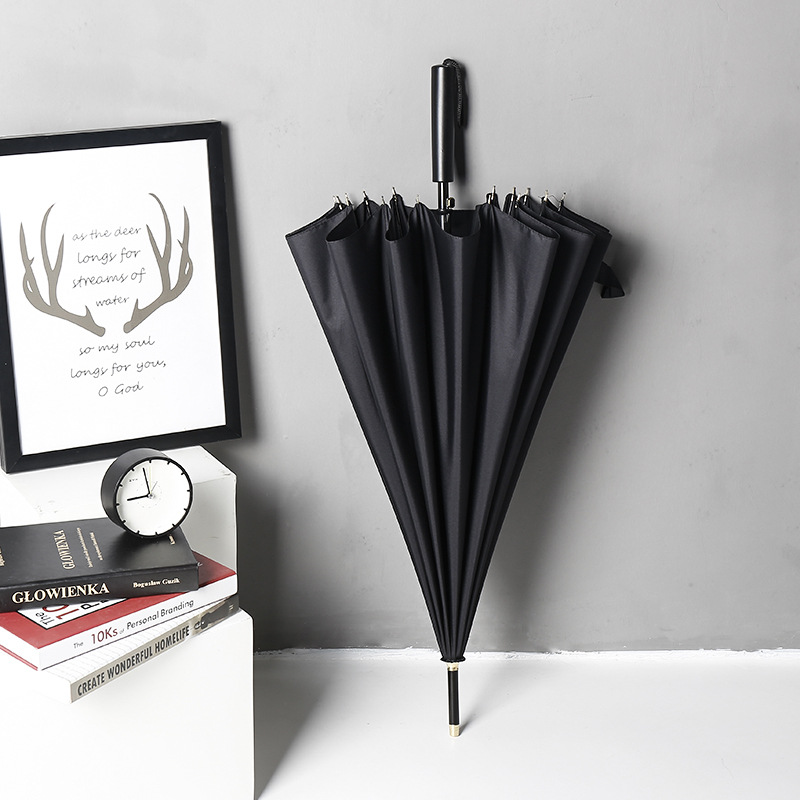 Creative Extra-large 16 Bone Business Automatic Open Golf Umbrella Long Umbrella Men Can Be Printed Logo Advertising Umbrella