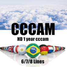 Cccam super stable cccam line for Europe spain clines Satellite tv Receiver 6/7/8lines WIFI FULL HD DVB-S2 Support Ccams