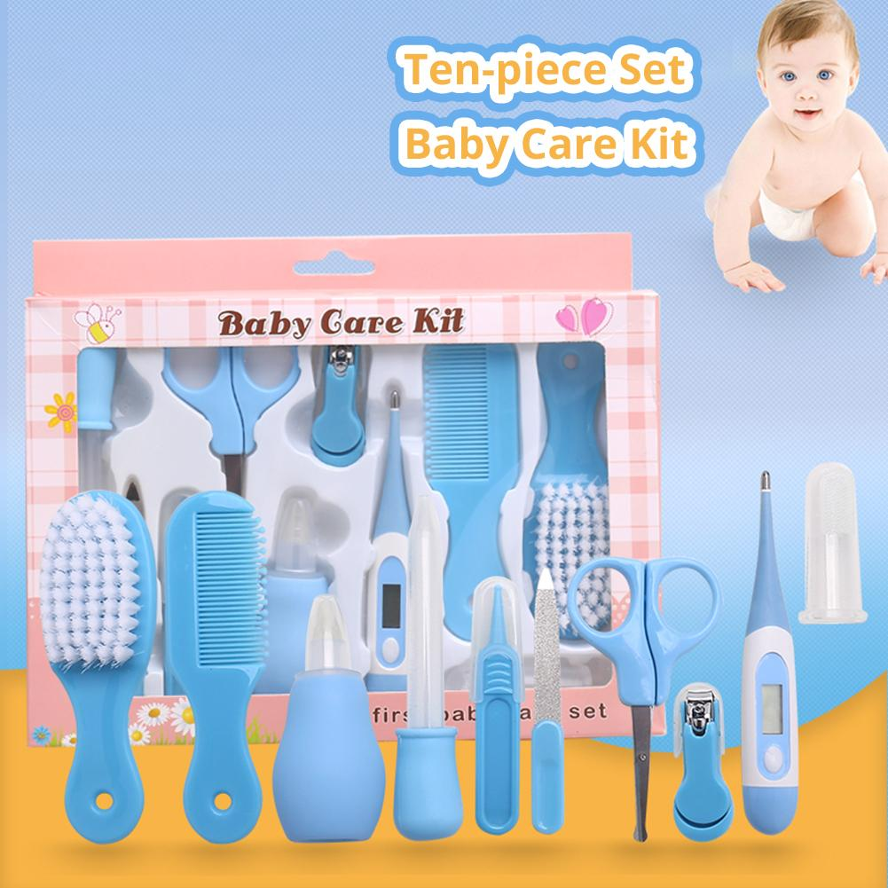 10 Pcs Portable Baby Infants Health Care Tools Kit Nail Clipper Safety Scissor