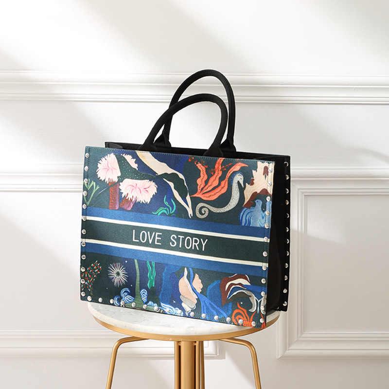 Louis Vintageหนังผู้หญิงToteกระเป๋ากระเป๋าสุภาพสตรีกระเป๋าถือและกระเป๋าถือหญิงสีทึบShoulder Toteกระเป๋า