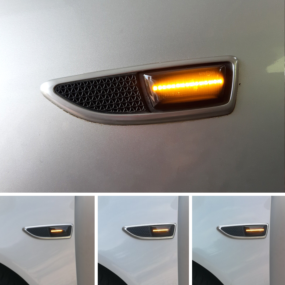 For Opel Astra H MK5 Insignia Zafira Corsa D MK4 Meriva Adam Led Dynamic Turn Signal Light Side Fender Marker Sequential Blinker