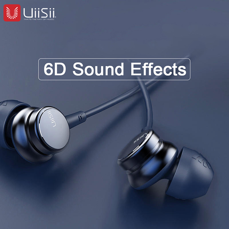 Uiisii Headphones HM9 Original Best Sellers Noise Reduction Metal 3.5 Mm Plug Stereo Music Game Sports For IOS Huawei Phones