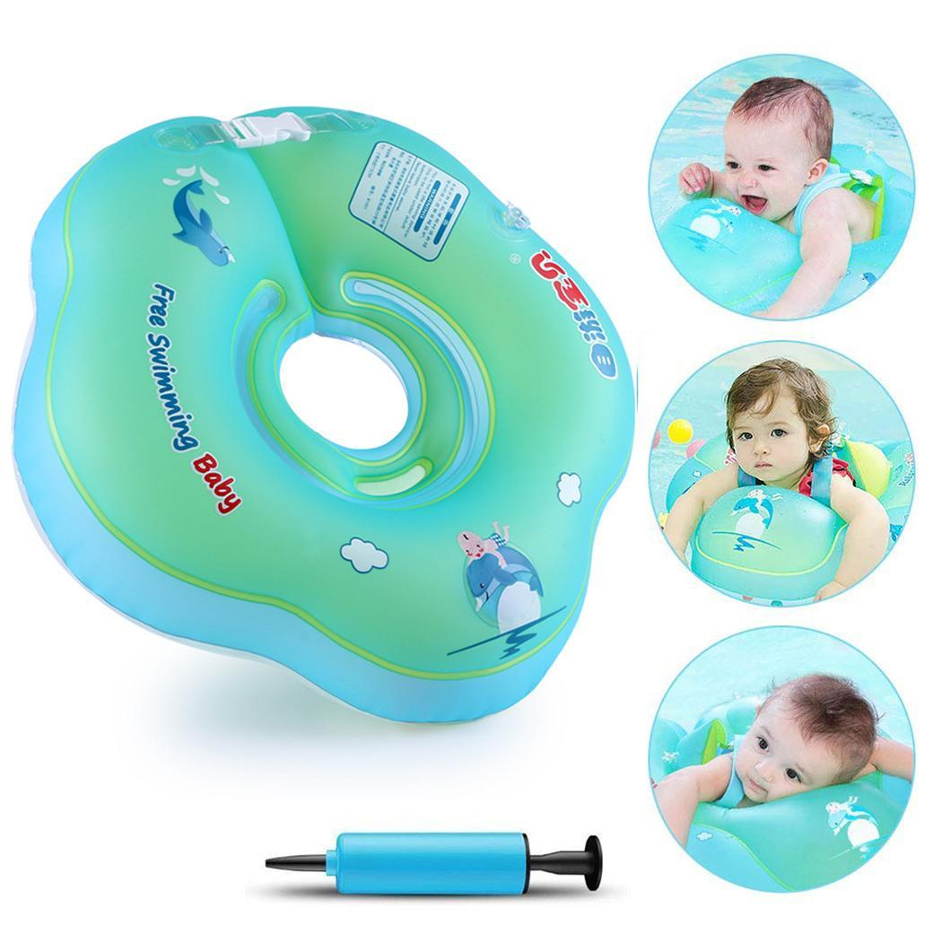 Newborns Baby Inflatable Neck Float Swimming Blue Pool
