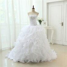 Модная линия Vestidos De Noiva Аппликация с халат, украшенный бисером De Mariage свадебное платье с оборками свадебные платья Casamento YN3300