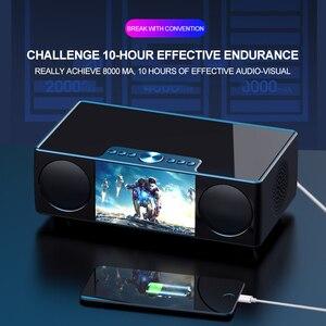 Image 5 - SOAIY S99 سمّاعات بلوتوث HiFi مكبر الصوت اللاسلكي ستيريو الصوت مضخم الصوت أفضل مكبر الصوت 8000mAH قوة البنك مشغل فيديو