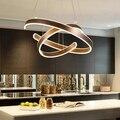 AC90-264VModern подвесные светильники для гостиной столовой геометрические круглые кольца акриловые алюминиевые светодиодное потолочное освеще...