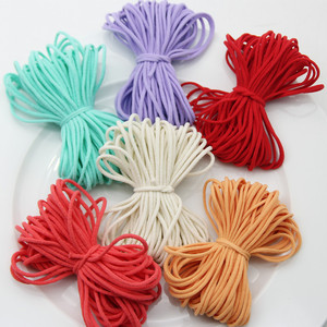 3MM Colorful Mask Elastic Rubber Band String Mask Ear Hanging Rope Round Elastic Band Cord DIY Crafts Sewing Garment Accessories