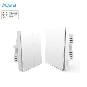 Aqara oświetlenie inteligentnego domu sterowanie ZiGBee bezprzewodowy przełącznik do montażu ściennego za pomocą smartfona praca dla Mi aplikacja domowa zdalne sterowanie dla mi jia