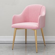 Домашний обеденный стул для отдыха, сольная спинка, диван-стул, гостиничный светильник, роскошный стул Aden, ресторанный обеденный стул из ткани