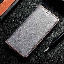 Magnes naturalne prawdziwej skóry skóry etui flip wallet książki etui na telefon na Samsung Galaxy A20 A30 A50 S 2019 A 30 50 32/64 GB