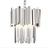 Современное Хрустальное подвесное освещение  столовая  кухня  спальня  лофт  золото/хромированный свет  светильники