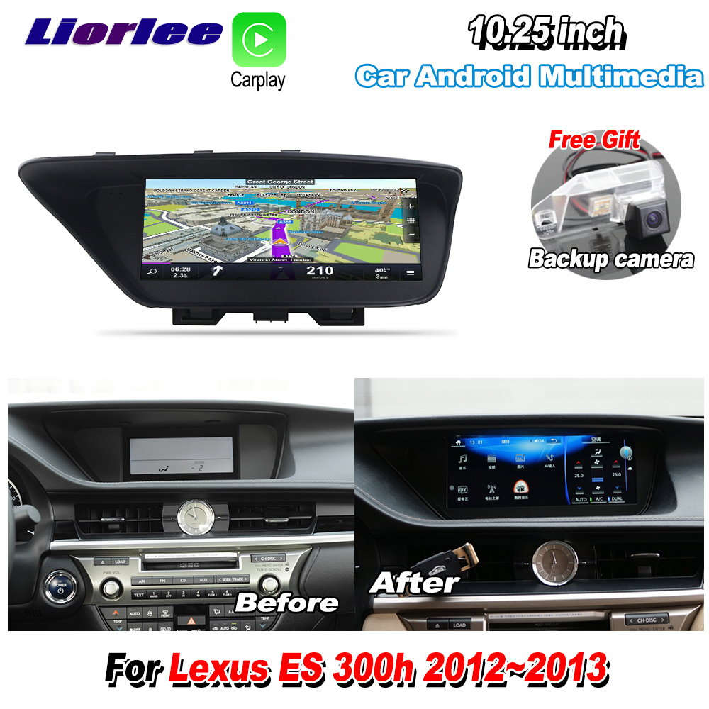 Liorlee For <font><b>Lexus</b></font> ES 300h ES300h <font><b>2012</b></font> 2013 Car <font><b>Android</b></font> Carplay GPS Navi Navigation multimedia Player Radio Stereo Camera image