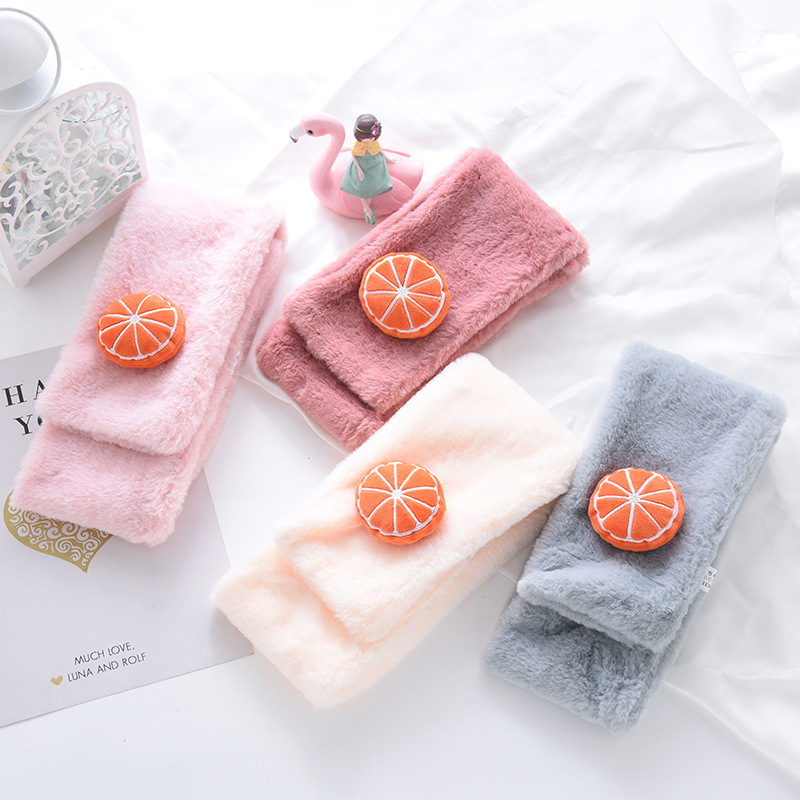 Zh Children Faux Lai Tu Fur Scarf Korean-style Fashion Autumn And Winter Baby BOY'S Girls Scarf Winter Warm