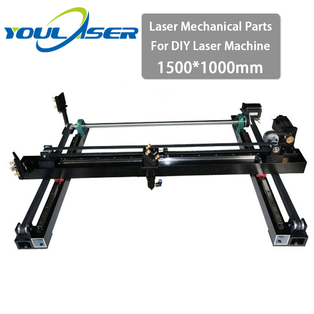 Whole Set Co2 Laser Parts 1500*1000mm DIY Laser Mechanical Spare Cutter Kit For 1510 Laser Engraving Cutting Machine