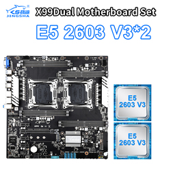 Zestaw podwójnych płyt głównych X99 z 2 procesorem XEON E5 2603 V3 USB3.0 10 * SATA3.0  NVMe M.2  8 * DDR4 do 256GB