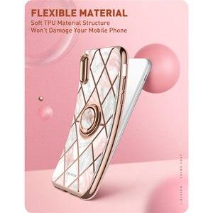 Image 5 - Funda de mármol para iphone XR i blason Cosmo Snap Slim con anillo giratorio incorporado de 360 °, soporte de pie de apoyo, soporte de coche