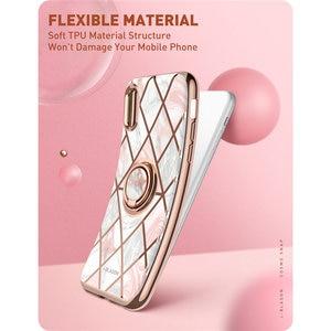 Image 5 - Чехол для iphone XR i Blason Cosmo, тонкий мраморный чехол со встроенным вращающимся на 360 ° кольцом держателем, подставкой, автомобильным креплением