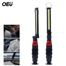 Linterna de imán LED portátil COB, luz de trabajo plegable, Luz brillante de inundación magnética para reparación de coche