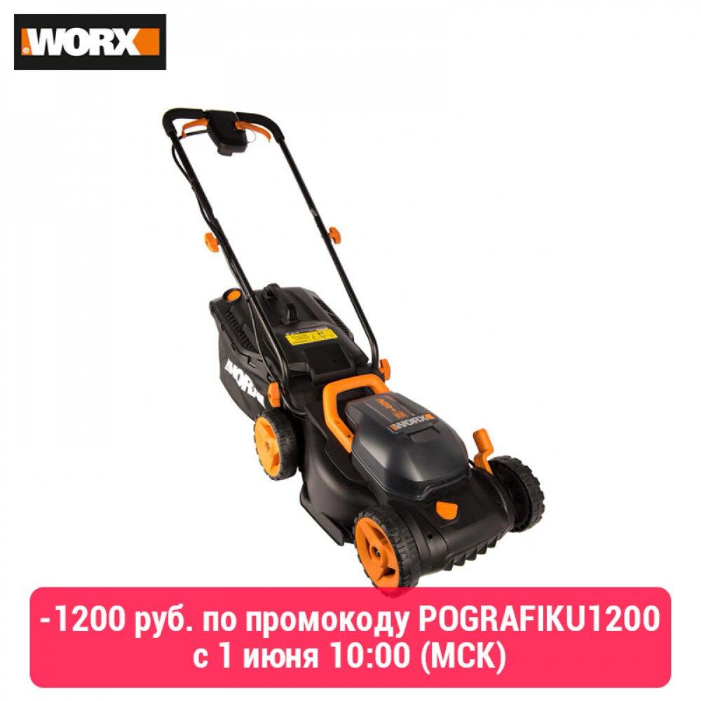 Lawn Mower WORX WG779E Electric Accumulator Garden Power Tools