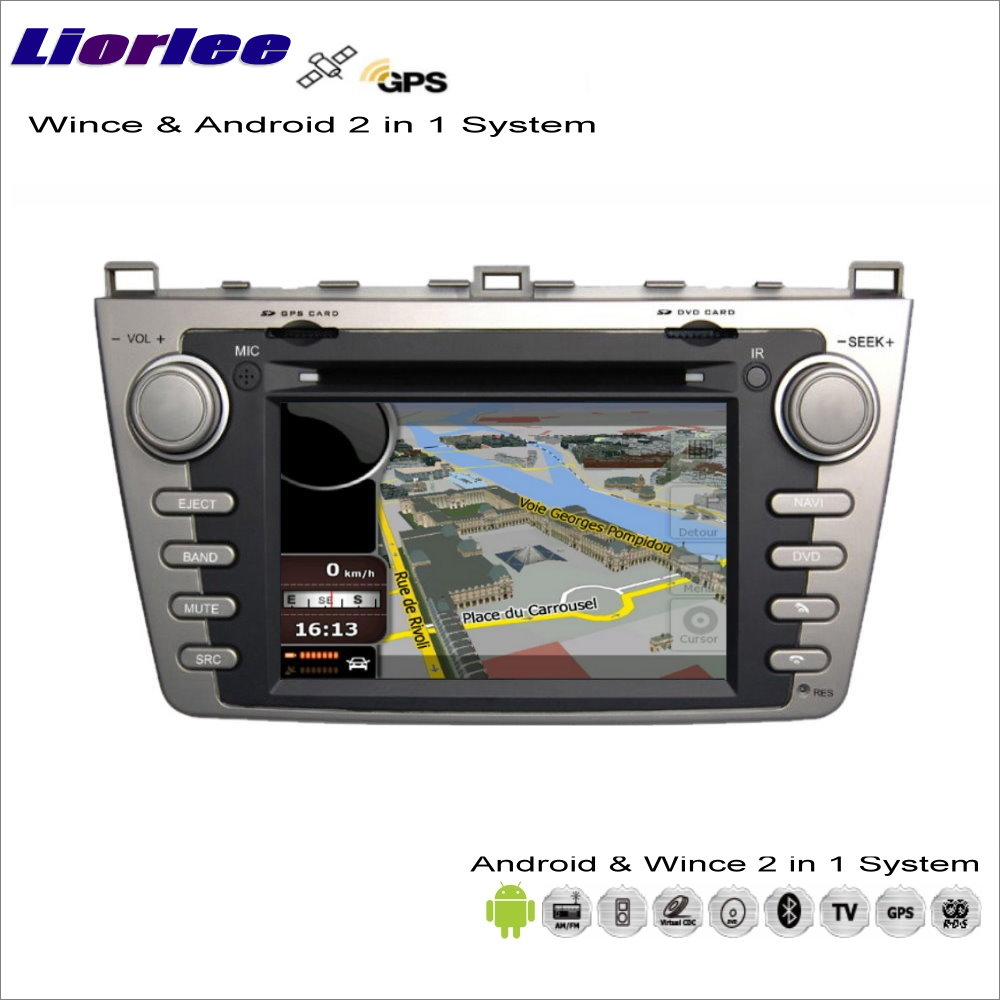 Liorlee For <font><b>Mazda</b></font> <font><b>6</b></font> 2009-2013 Car Android Multimedia Radio CD DVD Player <font><b>GPS</b></font> Navi Map Navigation Audio Video Stereo S160 <font><b>System</b></font> image