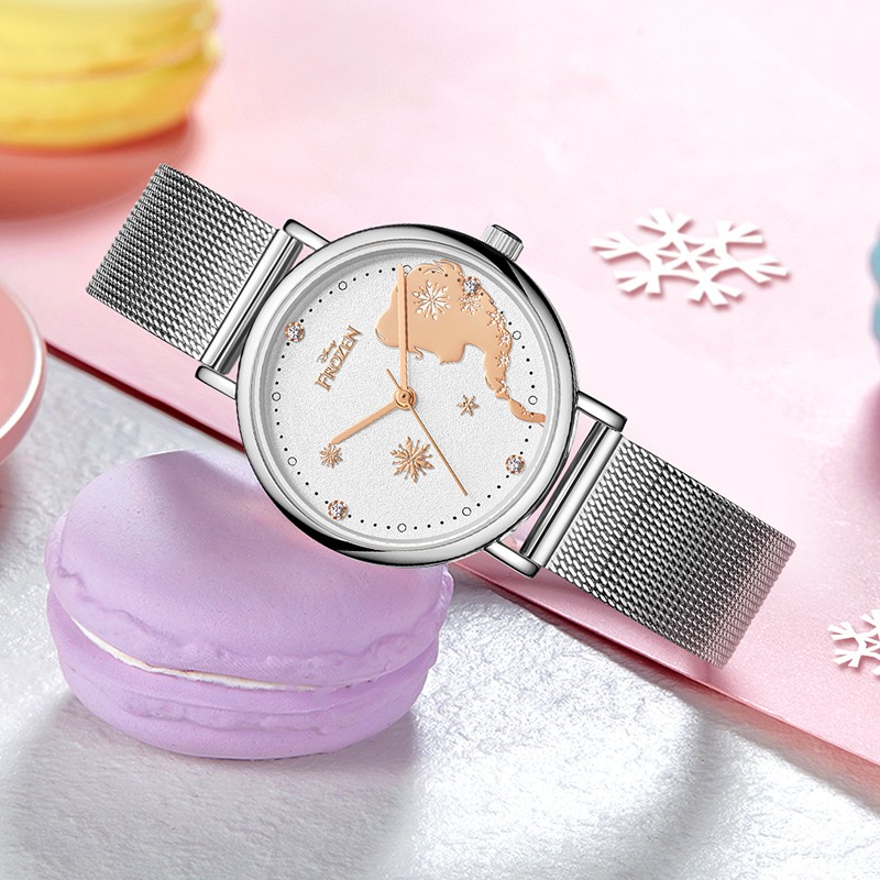 Большой распродажа замороженный женский красивый часы девушка подарок молодой женщина мода повседневная дети часы принцесса время ребенок часы украшения топ