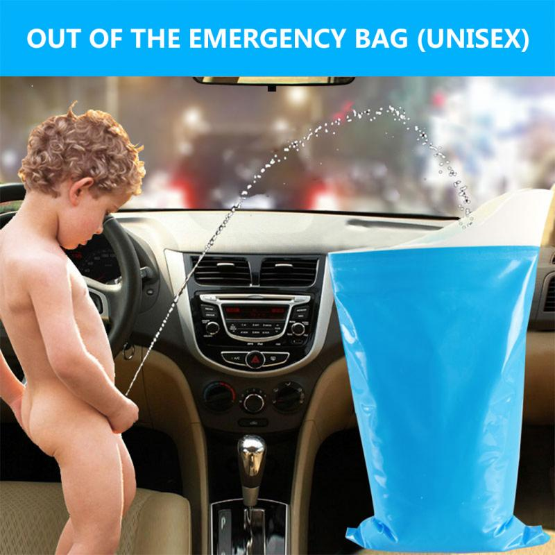 1Pcs Mini Toilets Protable Handy Pee Bag Emergency Urinals Bag Disposable Vomit Bags Long-distance Driving For Unisex