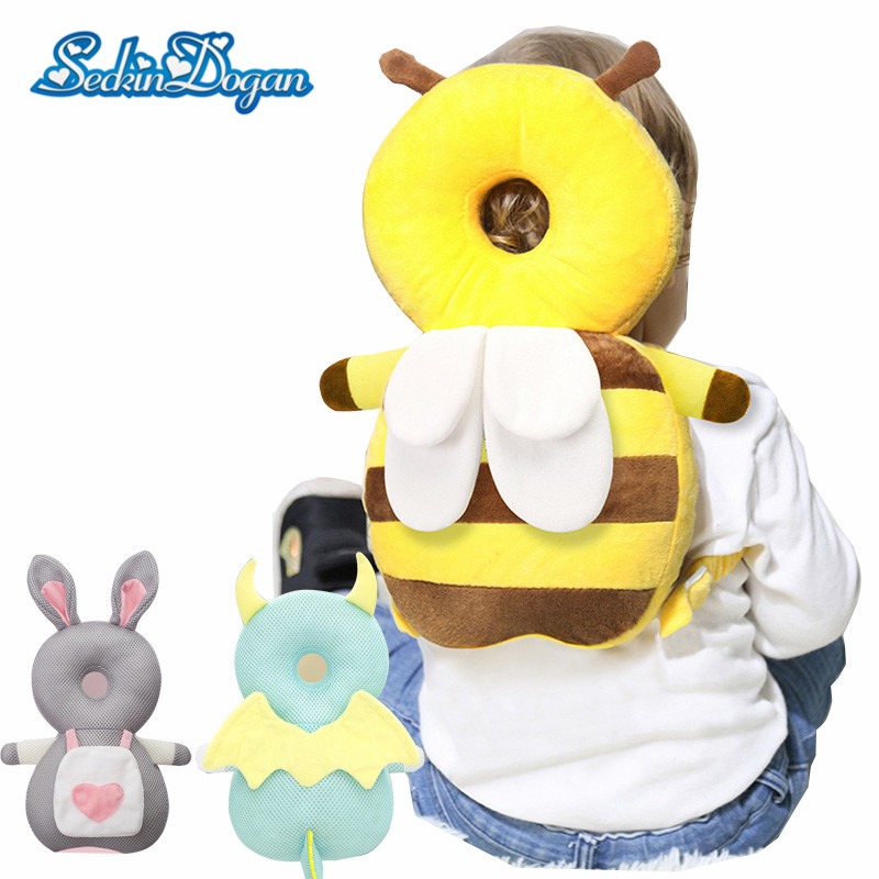 Baby Head Protection Pillow Cotton Anti-fall Pillow 3D Rebound PP Cotton Children Protective Cushion Baby Safe Care