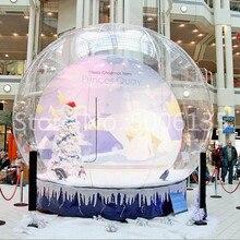 До двери! 2 м/3 м/4 м гигантский Снежный шар/гигантский надувной снежный шар/кристально прозрачный надувной Рождественский шар