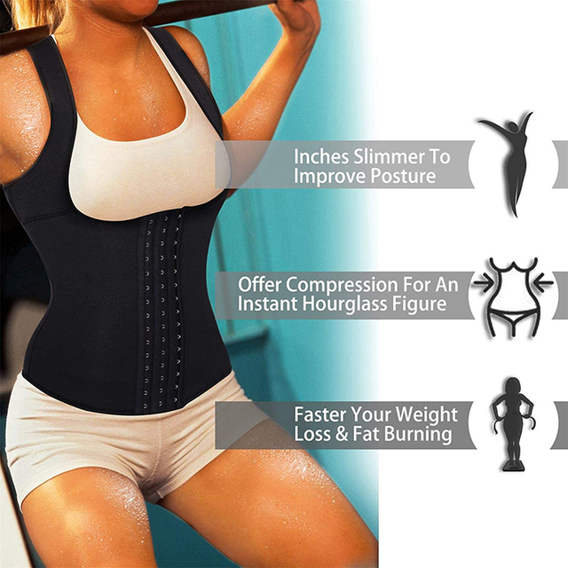 Women Waist Trainer Corset Sweat Vest Weight Loss Body Shaper Workout Tank Tops Wait shaper Slimming Belt Shapewear 4