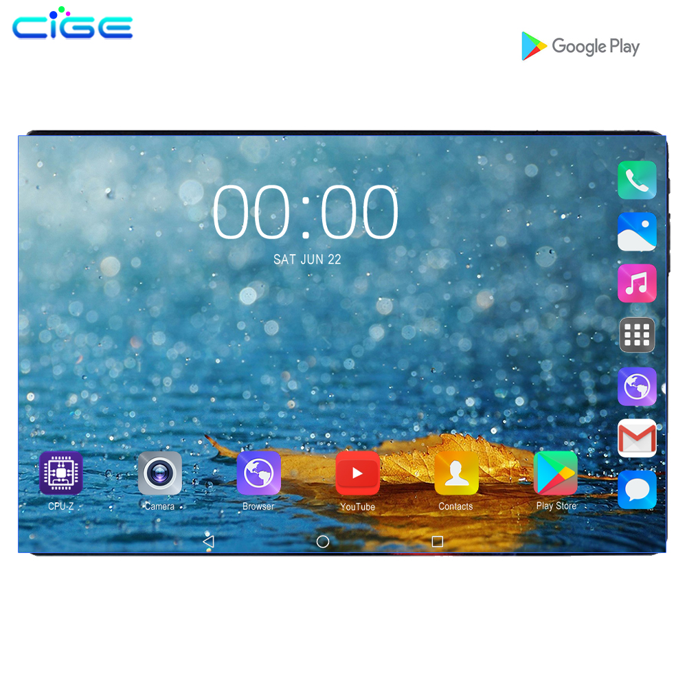 2019 Fast Shipping Android 9.0 Tablet PC Tab Pad 10 Inch IPS 8 Core 6GB RAM 128GB ROM Dual SIM Card LTD Phone Call 10.1