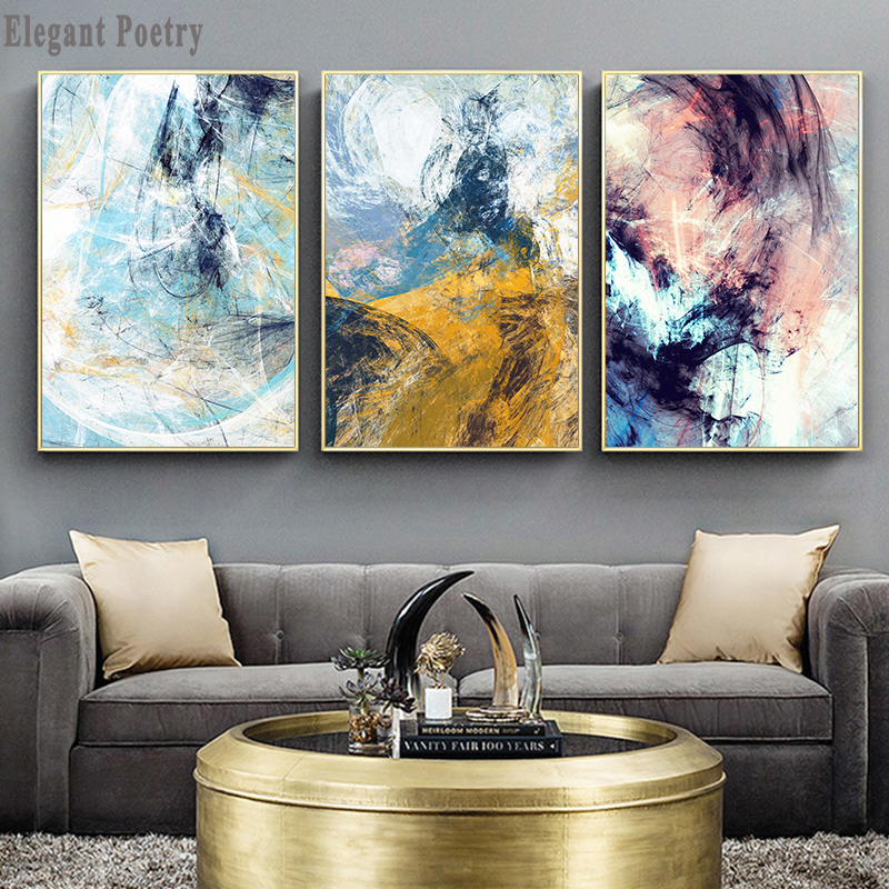 Colorful Abstract Weather Cloud Picture Modular Canvas Poster Print Decorative Painting Contemporary Art Home Decoration Picture