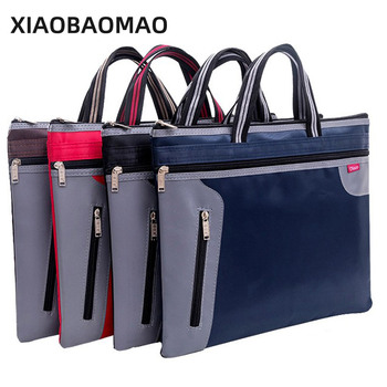4 Color Commercial Business Document Bag A4 Tote file folder Filing Bag Meeting Bag Side Zipper Pocket office bags for documents xiaobaomao a4 commercial business document bag tote file folder filing meeting bags pocket office bags pocket large capacity