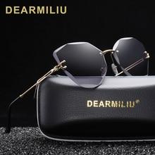 DEARMILIU DESIGN 패션 레이디 선글라스 2020 Rimless Women Sunglasses 빈티지 합금 프레임 클래식 브랜드 디자이너 쉐이드 Oculo