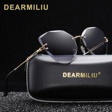 DEARMILIU DESIGN Mode Dame sonnenbrille 2020 Randlose Frauen Sonnenbrille Vintage Legierung Rahmen Klassische Marke Designer Shades Oculo