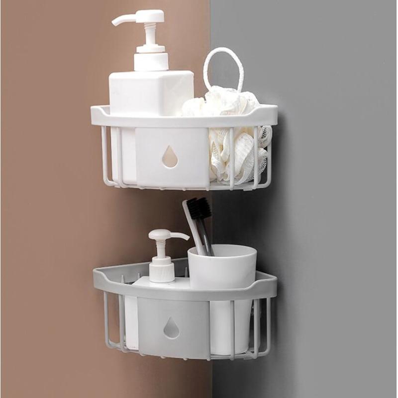 Storage Rack Multifunction Strong Kitchen  Bathroom Shelf Adhesive Rack Shelves For Bathroom Organizer Accessorie