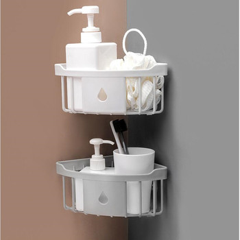 Multifunction Wall Hanging Bathroom Organizer Made With PP Plastic For Kitchen And Bathroom