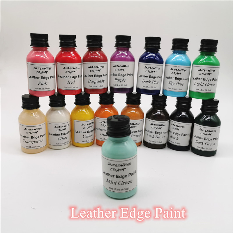 29.5ml 16colors Leather Edge Dye Edge Oil Sealing Tools Leather Craft DIY Highlights Leather Paint Non-heat