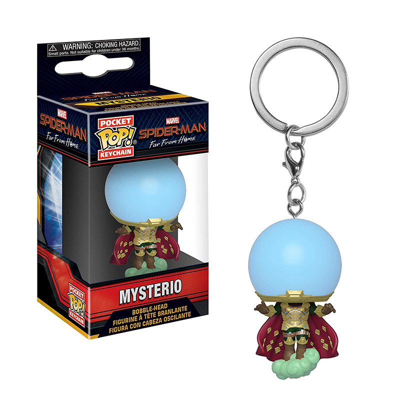 FUNKO POP Pocket Pop Keychain Marvel Mysterio Spiderman The Avengers Spider-Man Far From Home Action Figures Toys Christmas Gift